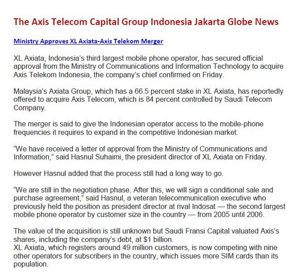 the jakarta globe axis capital group Jakarta globe brings our readers unrivaled, authoritative reporting and writing in english on indonesia, asia and the wider world.