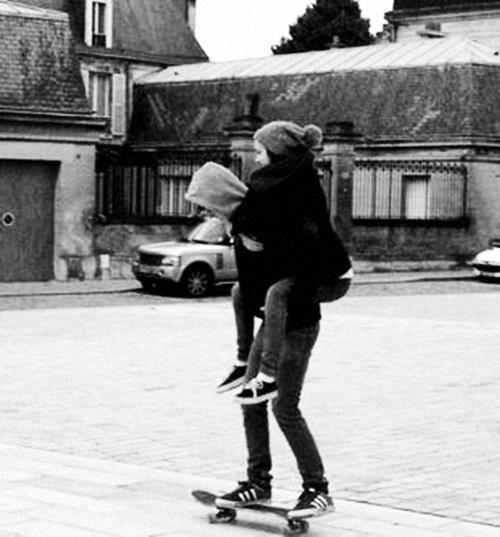 beanie, boy, friends, girl, skateboard, street, vans