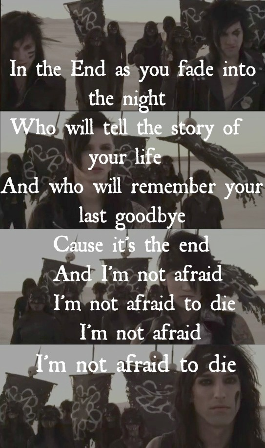 In The End- Black veil brides - image #1825055 by patrisha