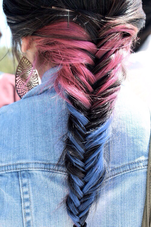 aww, beautiful, blue, braid, colored hair, cute, fashion, girl, girly, happiness, happy, laugh, love, perfect, pink, smile, style, sweet, want, wow
