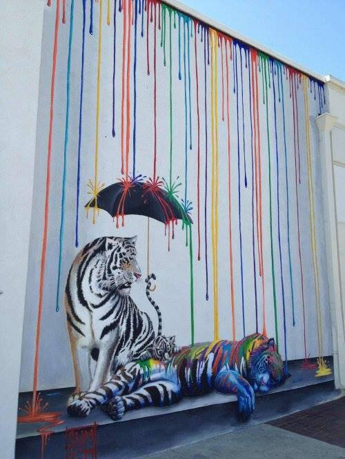 Tiger image 1845507 by taraa on for 3d street painting mural art