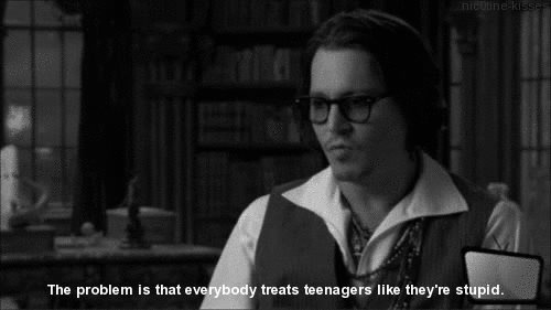 funny, johnny depp, quote, quotes and sayings, stupid, teen, teenagers