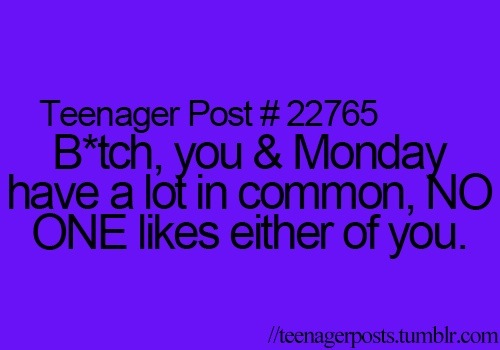 funny, lol, monday, quote, school, teenager post, teenagers, text