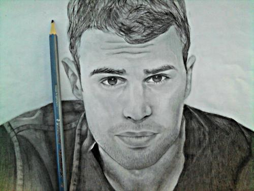 black and white, divergent, drawing and four