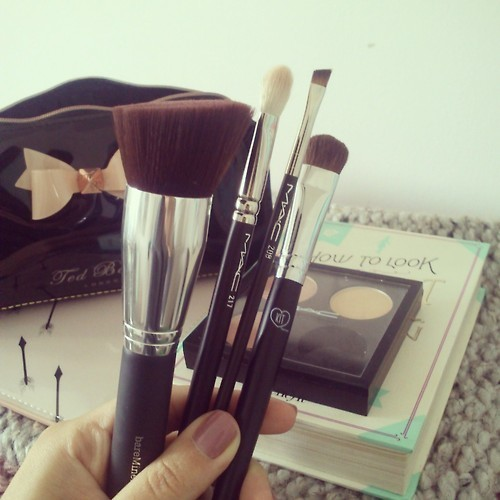 beauty, brushes, chanel and cosmetics