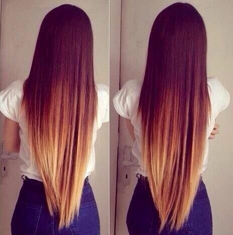 cute, beauty, pretty, hair, fashion, style, clothes, ombre, girl
