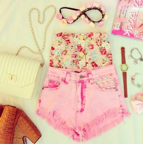 floral, summer, color, fashion, awesome, outfit