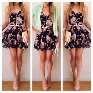body, weheartit, outfit, tumblr, fashion, cardigan, flowers, dress