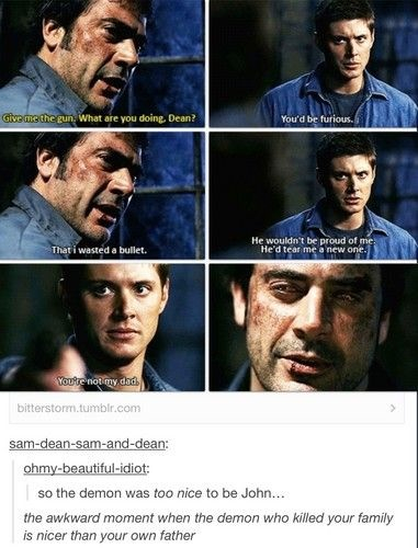 John Winchester Quotes. QuotesGram Supernatural Sam And Dean Funny Moments