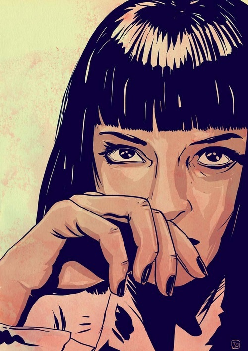 beautiful, mia wallace, movie and pulp fiction