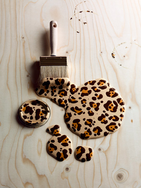 brush, creative, leopard, paint, paintbrush, wild