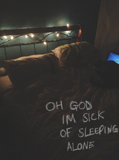 all time low, alone, bed and copule