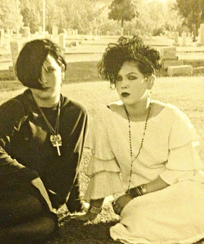 1980s, 1988, cemetery and goth