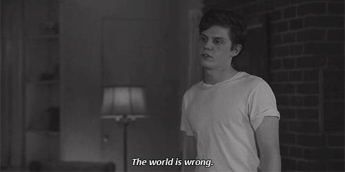 text, world, boy, wrong, american horror story, kit walker, evan peters