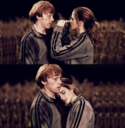 Romione we heart it image 2093237 by carlaippolito - Hermione granger and harry potter kiss ...