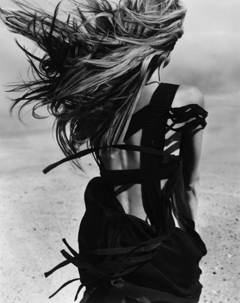 Fashion photography art black and white
