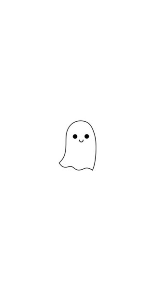 *o*, boo, ghost, halloween, kawaii, lovely, small, <3