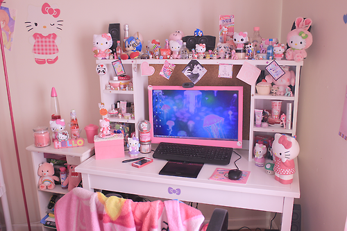 asian, beautiful, bedroom, colorful, cute, dream, girl, happy, hello kitty, home, japan, japanese, joy, kawaii, love, lovely, pink, pretty, asian gilrl