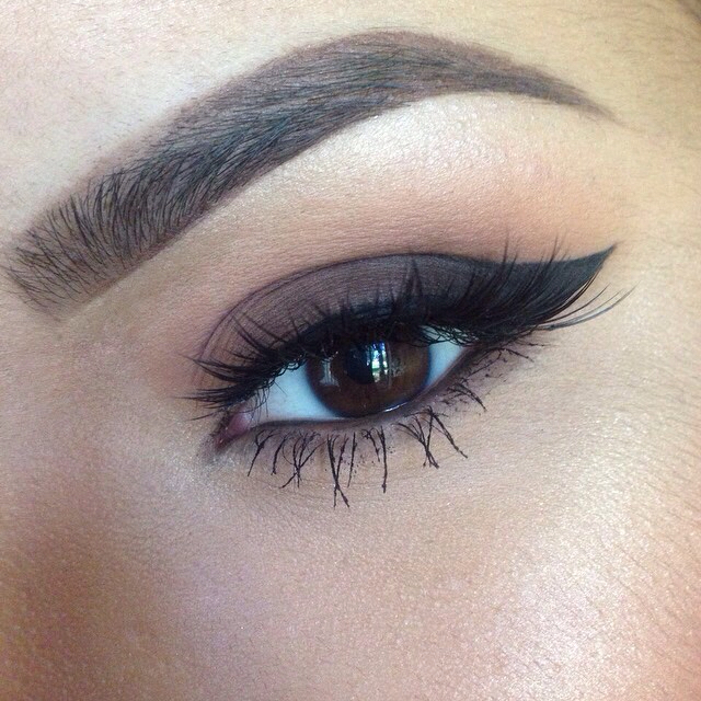 brown, brows, cat eye and eyebrows