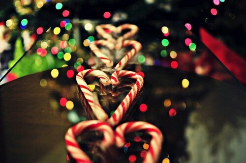 candy, canes, christmas and hearts