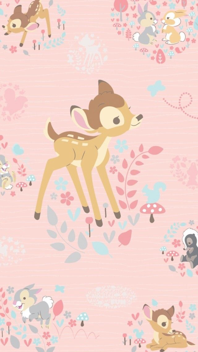 Bambi Disney Gadget Iphone Pink Wallpaper Home Screens