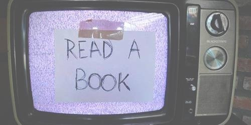 books, read a book, tv