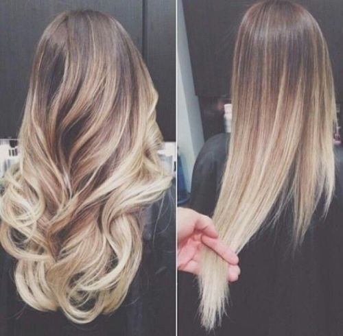 balayage, blonde, brunette, curles, hair, hairstyles, long, ombre