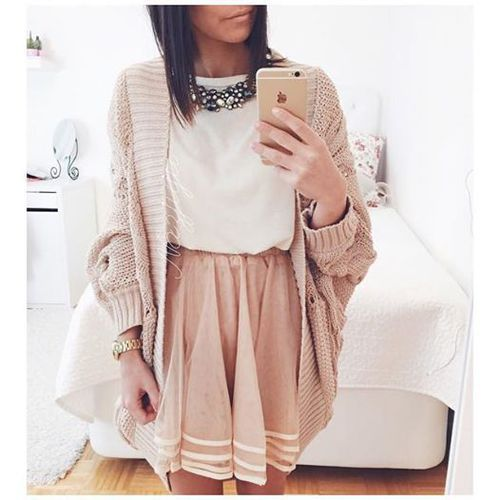 autumn, bloggers, blouses, cardigans, closet, clothes, dream, fashion, girl, hot, iphone, lovely, necklaces, ootd, skirts, vogue, winter, First Set on Favim.com