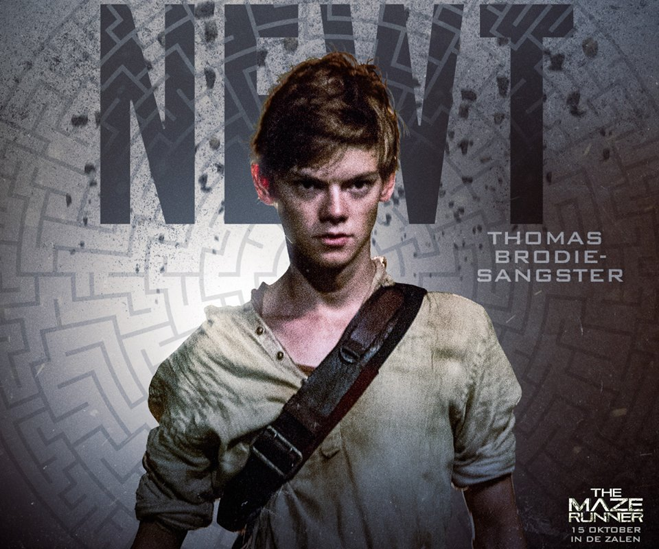 action, glade, maze, movie, maze runner, newt, thomas grodie-sangster