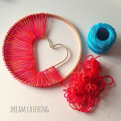 cute, diy, heart and red