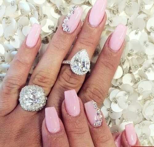 Gel nails diamond – Great photo blog about manicure 2017