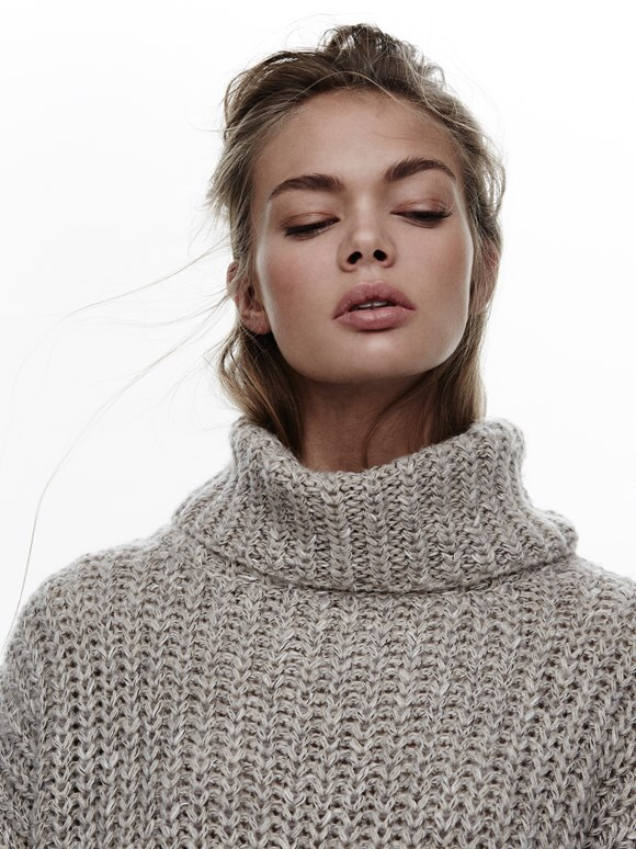 beauty, editorial, fashion, knitted, model, photography, portrait, sweater, turtle neck, amalie schou