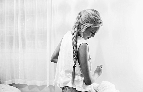 adorable, beauty, black and white, braid, classy, girl, hair, norway, norwegian