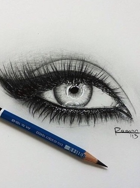 B w drawing eye eyeliner goals image 3596855 by for Drawing eyebrows on paper