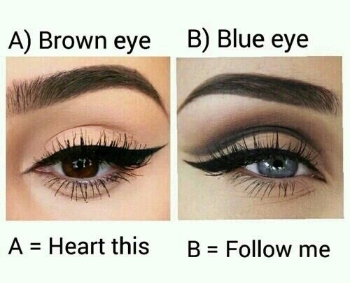 awesome, beautiful, blue eyes and brown eyes