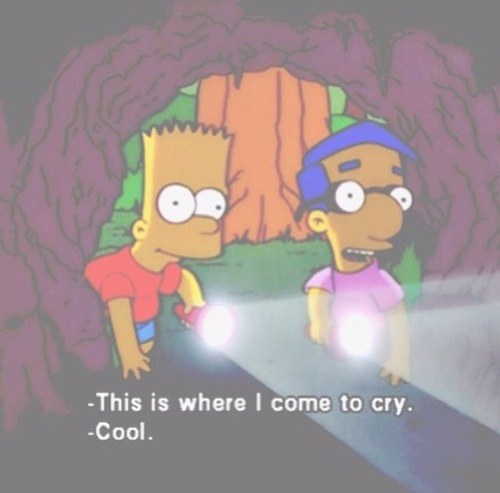 bart, cave, cry, old, woods, yellow, milouse