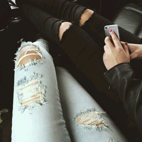 clothes, denim, distressed, fashion, jeans, ripped, style