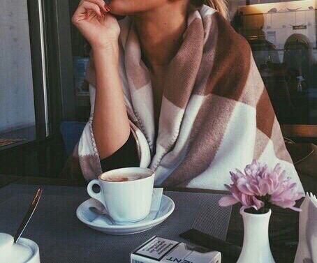 blanket, coffee, coffee cup, coffee shop, cozy, fall, flowers, girl, hot, lounge, pretty, tea, tea cup, vase, hot ​chocolate