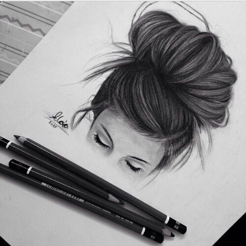 How To Draw Realistic Hair Bun Messy Bun 2 By Lauragranholm On