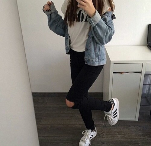 hairstyle, shoes, love, adidas, women, boys, ootd, you, fashion, noir, jacket, basket, tumblr, perfection, grunge, jean, outfit, baby, boy, nails, style, 2015, hair, love it, girls, couple, mode, girl, shoe, black
