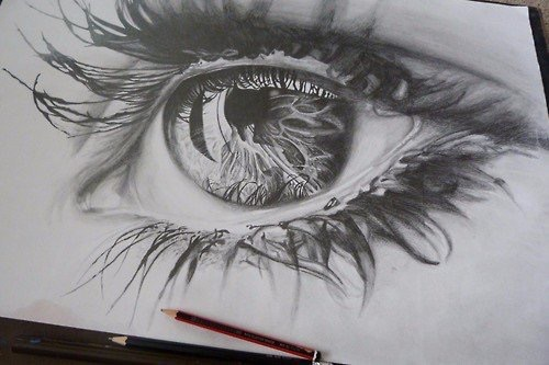Beautiful eye pencil art image 3855505 by helena888 on for Beautiful drawings and paintings