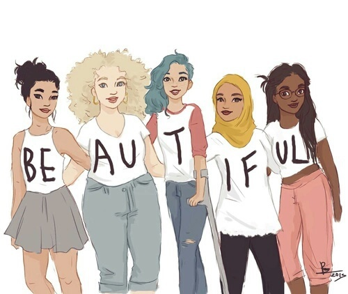 beautiful, beauty, drawing, fashion, feminism, girls, 2016