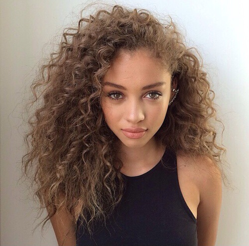 brown, curls, girl, goals, long hair, make up, pretty