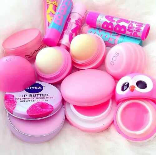 baby lips, blue, chapstick, creme, eos, hydrate, lips, my fav, nivea, owl, pink, smooth, white