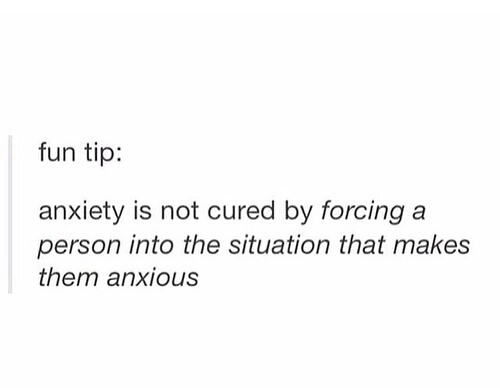 anxiety and tumblr post