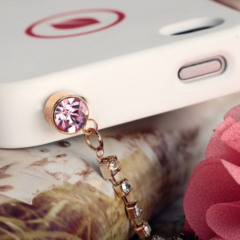 3.5mm 3d flower petal ball headphone anti dust plug, smart phone charm, cute phone plug, phone accessories plug, 3.5mm earphone jack dust plug charm
