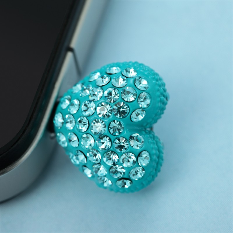 3.5mm earphone anti dust plug heart stopper