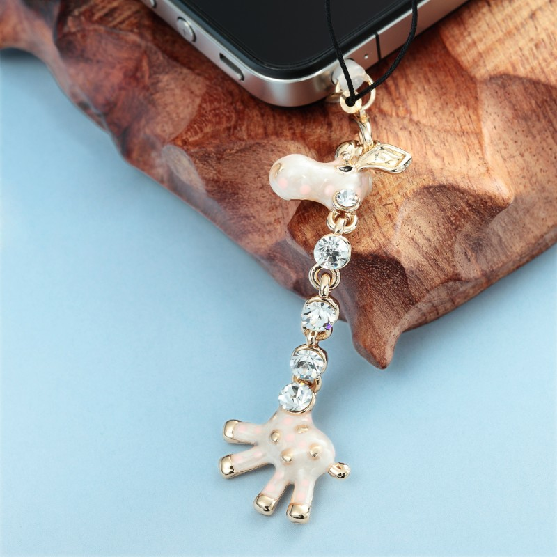 3.5mm giraffe headphone anti dust plug, animal earphone dust plug charm, phone accessories plug, earphone jack dust plug charm, giraffe earphone dustproof plug charm
