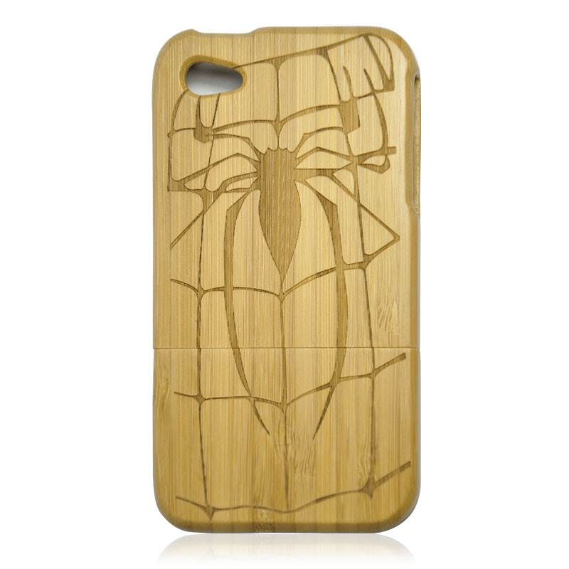 Dark Bamboo IPhone4/4S Case- Spider Man