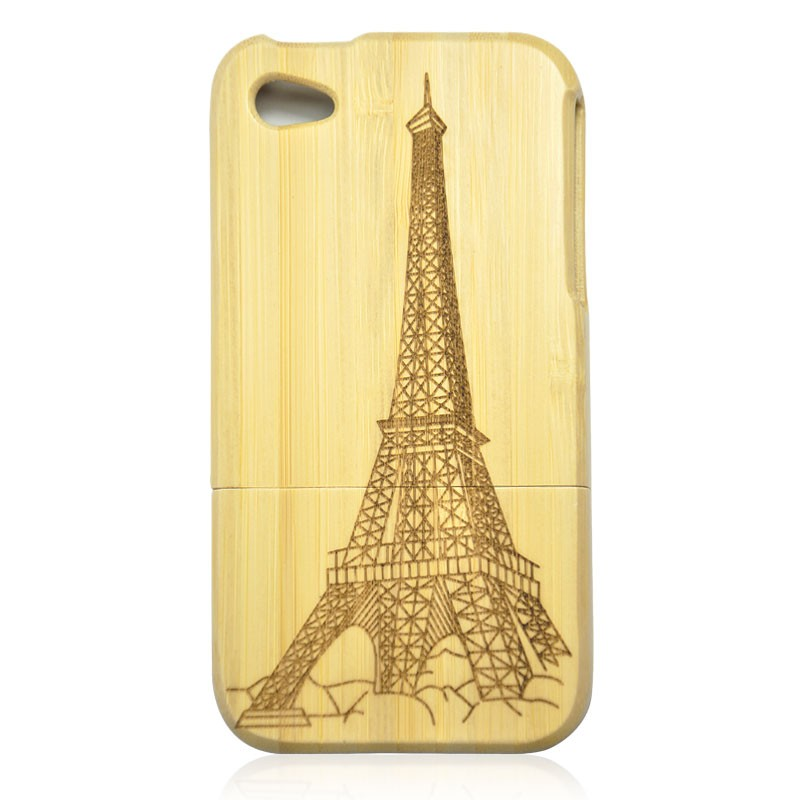 Bamboo IPhone4/4s Case- The Eiffel Tower